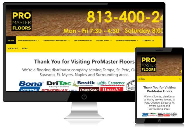specializing in flooring Web Design