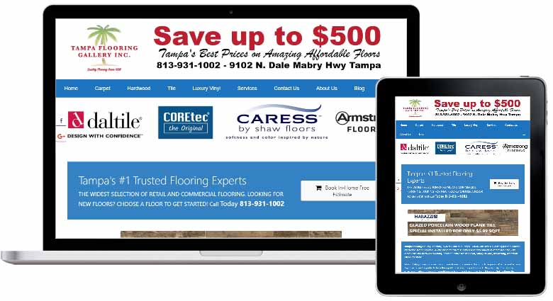 Mobile friendly flooring web design