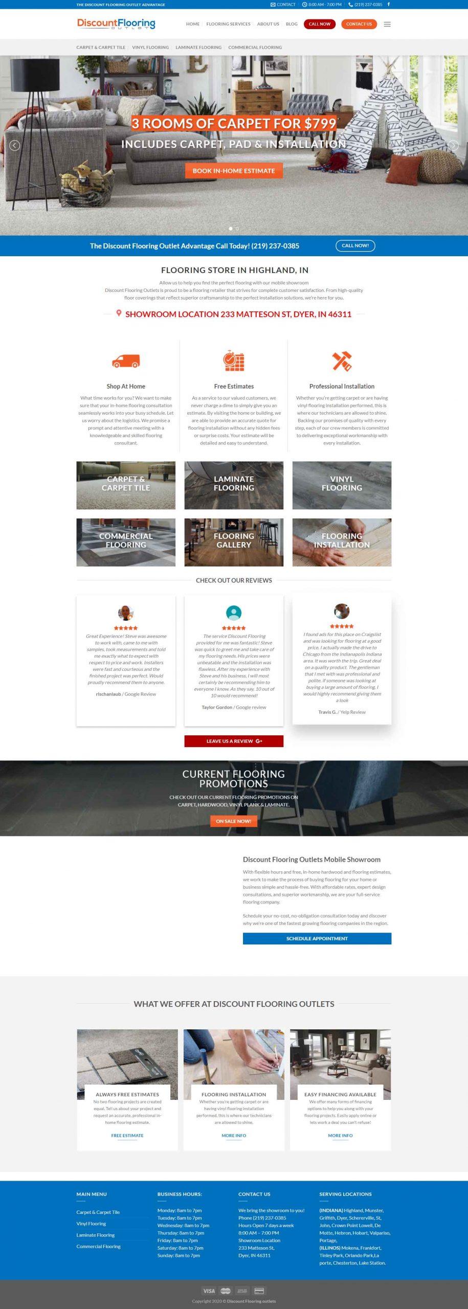 Retail Flooring Website Design Marketing Company